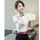 Business women shirt summer fashion formal Patchwork short sleeve slim blouses office ladies work plus size tops for women