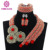 Wholesale Latest design African Beads Jewelry Set Nigerian Wedding Beads Necklace Earrings Dubai Gold fine jewelry Sets NEW5308