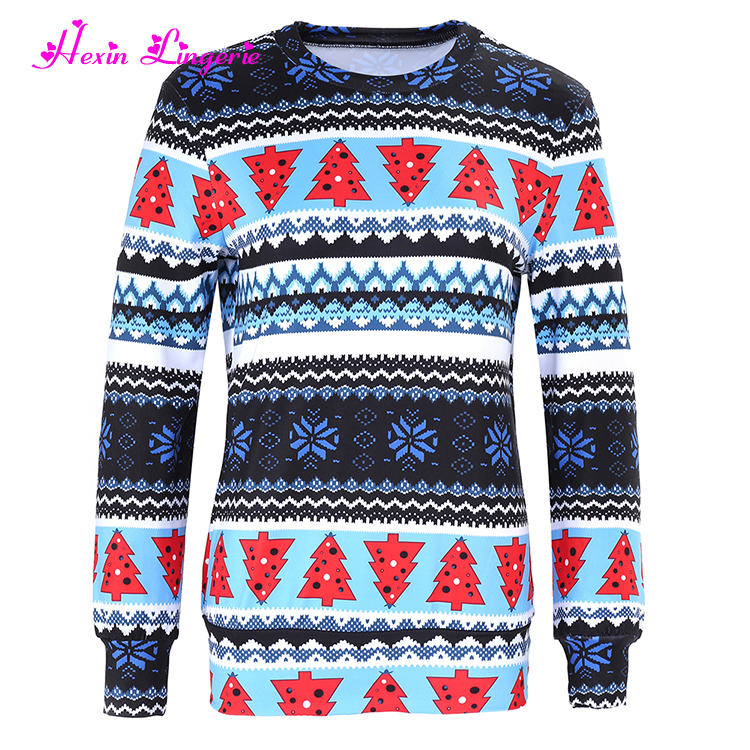 Top Selling women Christmas pattern blouse tunic tops 3d printing sweatshirt