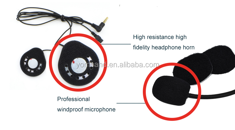 15 Hours Lasting Working Time , Waterproof Motorcycle Helmet Bluetooth Intercom