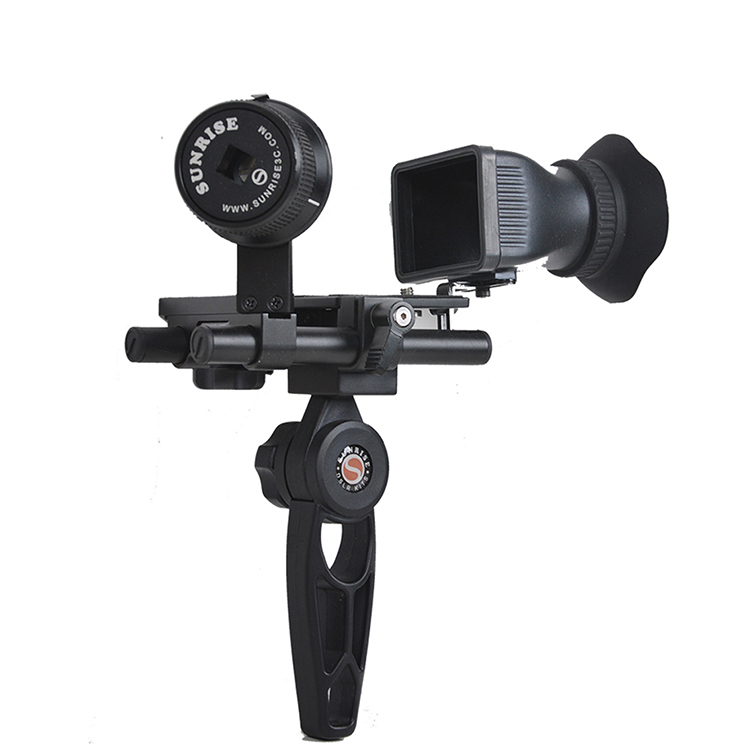 Sunrise Professional Camera Accessories Handheld Gearless DSLR Camera Follow Focus Stabilizer with 3X Magnification Viewfinder