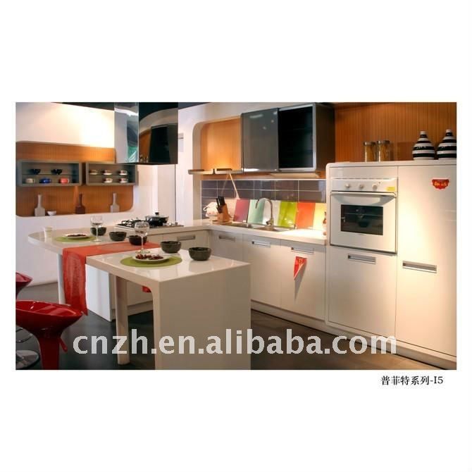 Knockdown Kitchen Cabinets: Knock Down Kitchen Cabinets(uv High Glossy Color Painting