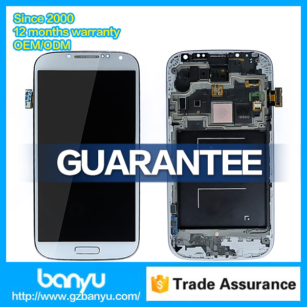 Lcd screen digitizer white frame for samsung galaxy s4 i9505 display
