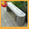 Natural outdoor garden bench with legs for outdoor furniture