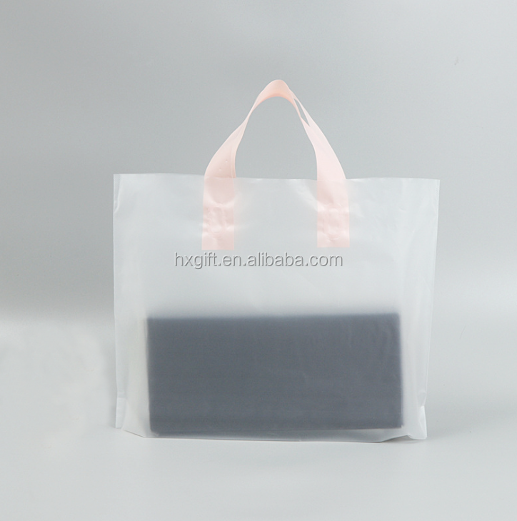 Custom Logo Resealable Decorative Clear Plastic <strong>Tote</strong> Bag With Handle