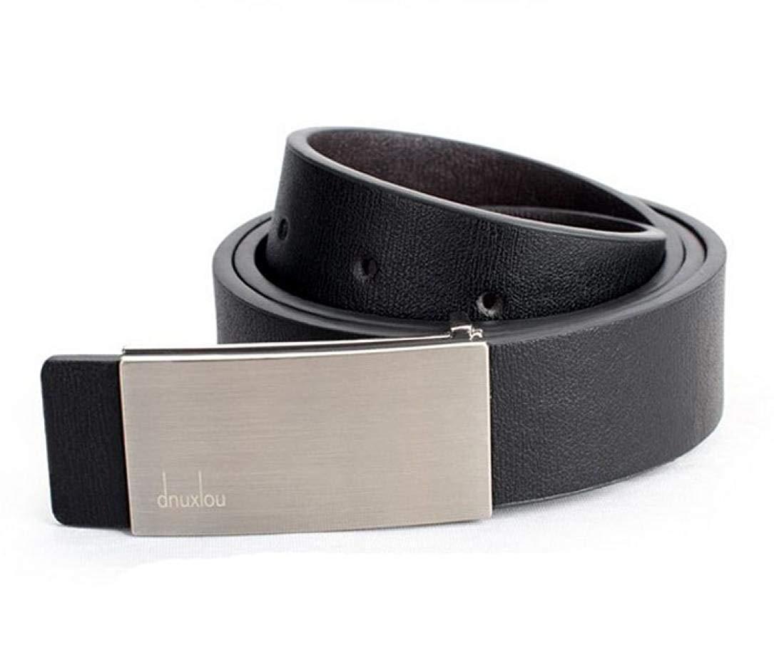 Shybuy Men Automatic Buckle Belt Leather Waist Strap Belts Buckle Belt