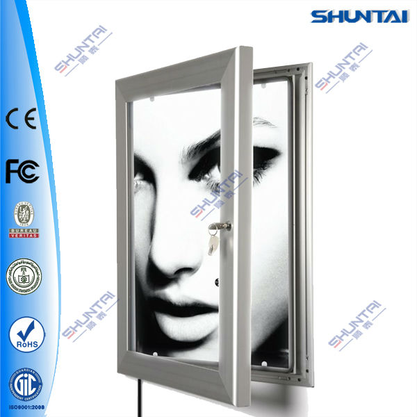 Wall outdoor portable adveritising wall slim light box