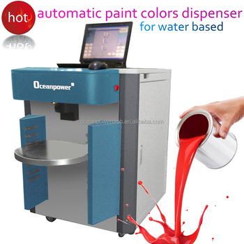 Computer paint color mixing machine automatic water based for Paint tinting machine