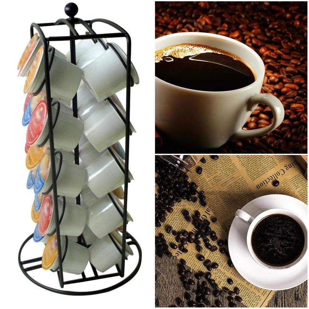 AMZLUCKY - Coffee Pod Holder and Organizer for 30 Coffee Pods Creamer Pods for Nescafe Dolce Gusto Home Bar Tool