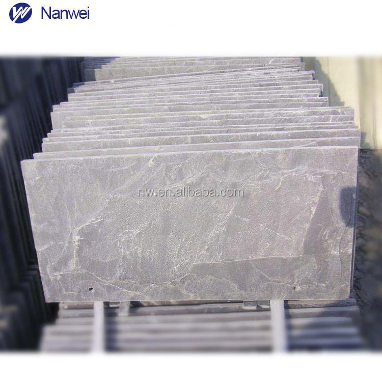 premium Natural white and black Chinese roof slate tiles block Thin Slab Stone Form and light grey slate roofing natural slate