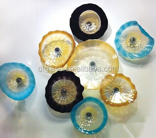 Hand Blown Glass Wall Hanging Plates,Glass Wall Art Plates - Buy ...