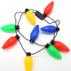 Most creative flashing christmas 9pcs led light bulbs necklace with 3 modes for children