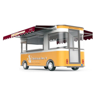 new desined food caravan with awning, mobile food trailer for selling food and drinks