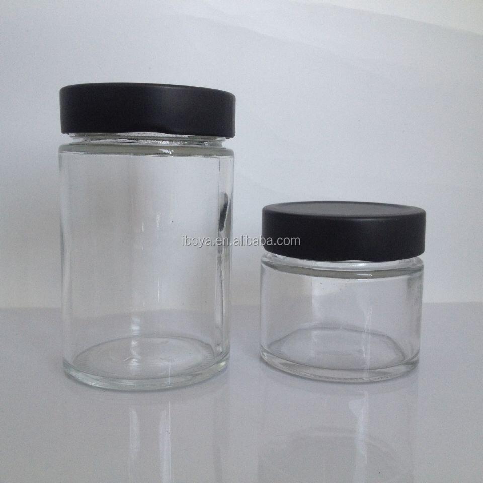 Ronde Glazen Pot.197ml Super Helder Ronde Glazen Pot Met Schroef Metalen Deksel Zwart Buy Glazen Pot Met Metalen Deksel Zwart Glazen Pot Met Schroefdop Deksel Saus