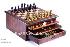 Wooden game/10 in 1 combination wood game /Chess Game Set