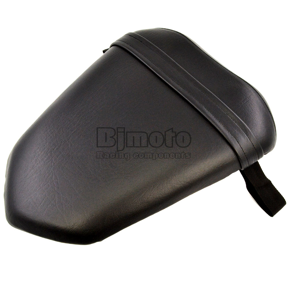 Black Seat Cover For Yamaha YZF 1000 R1 2007 2008 Seat Vintage Leather Motorcycle Rear Passenger Seat Cushion Pillion