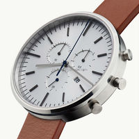Custom Made Polished 316L Stainless Steel 42mm Leather or Rubber Multifunction Fashion Mens Wrist Watches 2019