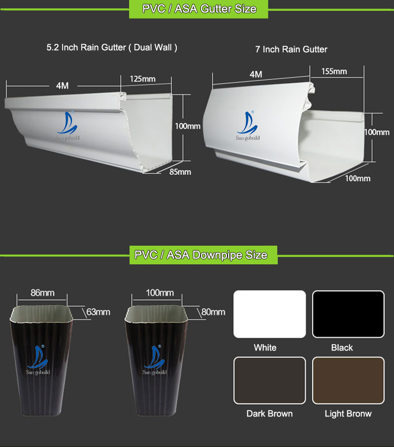 Vinyl Downspouts And Gutters Pvc Rain Gutter System Buy
