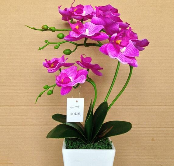 Artificial silk butterfly orchid bonsai for decoration