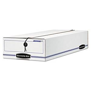 LIBERTY Storage Box, Card Size, 6 x 23-1/4 x 4-1/4, White/Blue, 12/Carton, Sold as 2 Carton, 12 Each per Carton