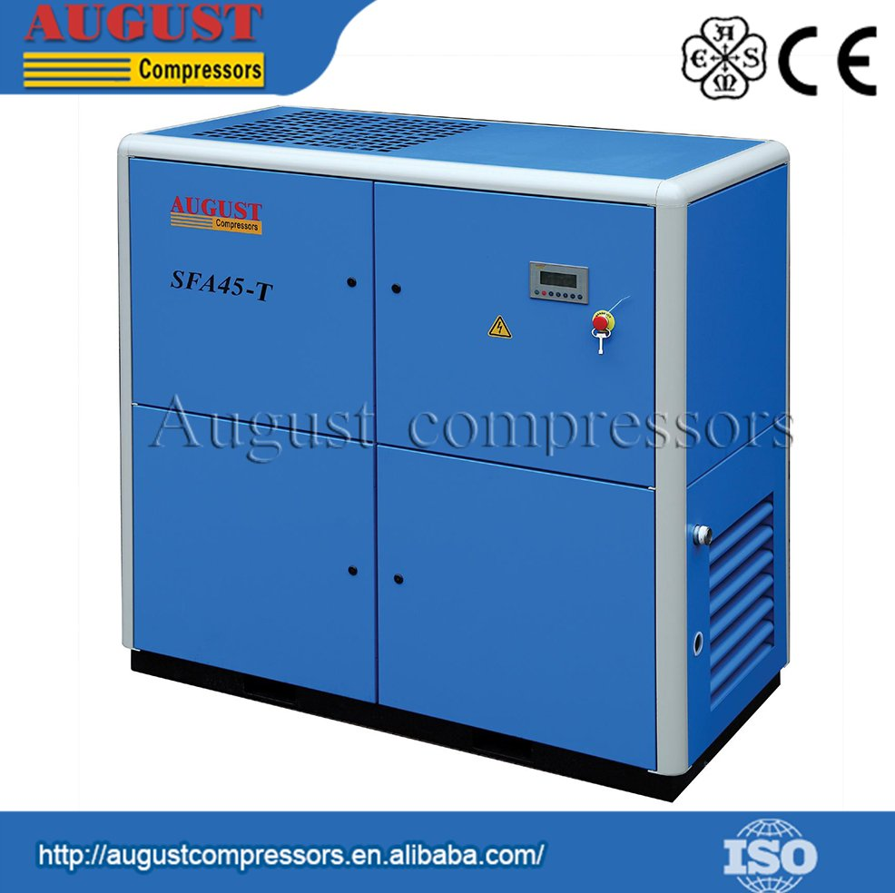 SFA45-TB 45KW/60HP 10 BAR AUGUST Direct Coupling Drive variable frequency air cooled screw air compressor ac frequency inverter
