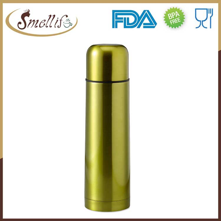 750ml Double wall insulation glass thermos vacuum flask with cup