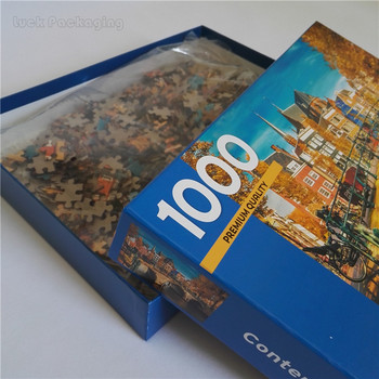 Wholesale cheap custom large 1000 pieces cardboard adult jigsaw puzzles with box manufacturer