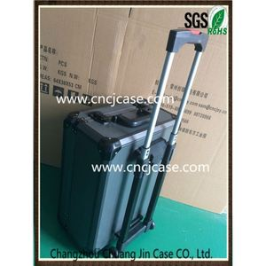 Suitcase-style fashion running singlet custom design with locks black male aluminum trolley case with legs