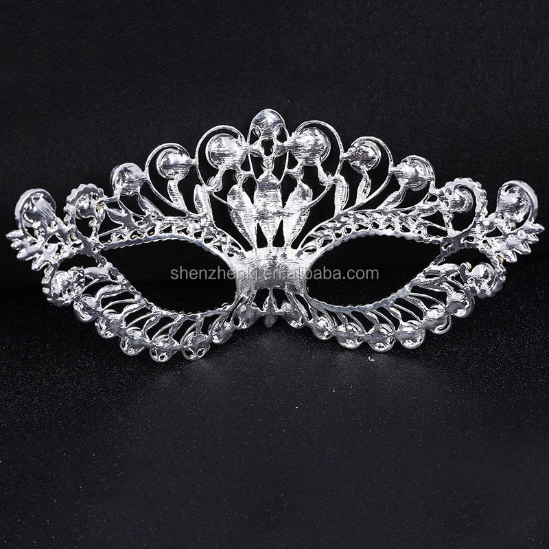 Women Girl Venetian Masquerade Mask Crystal Cosplay Mardi Gras Eye Costume Mask For Party Wedding Ball Prom Show