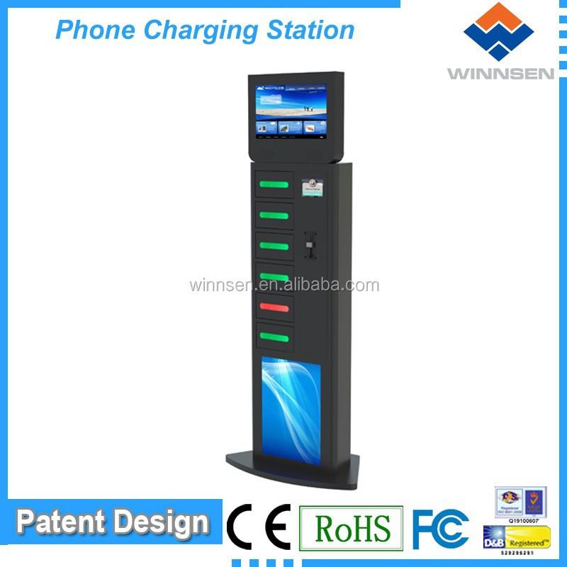 Coin Operated Handset Charging Kiosk/ Automatic Coin Operated ...