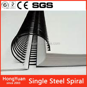 office binding materials metal Single Steel Book Binding Spiral