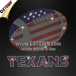 Texans rhinestone transfer wholesale custom iron on transfers