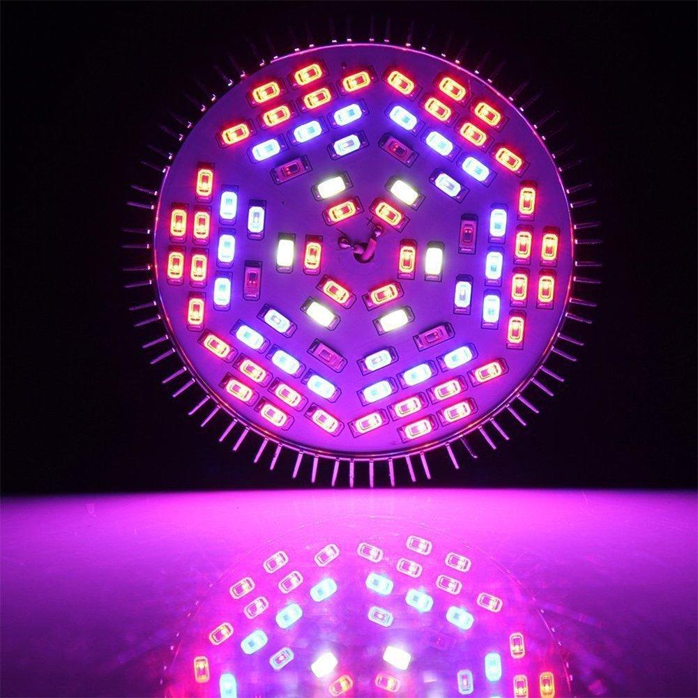 Zehui LED Plant Growth Lamp Full Spectrum E27 LED Flower Plant Grow Light Growing Lamp Light Bulb 50W