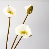 3 head shell simulation poppy flower lily artificial Priced to sell