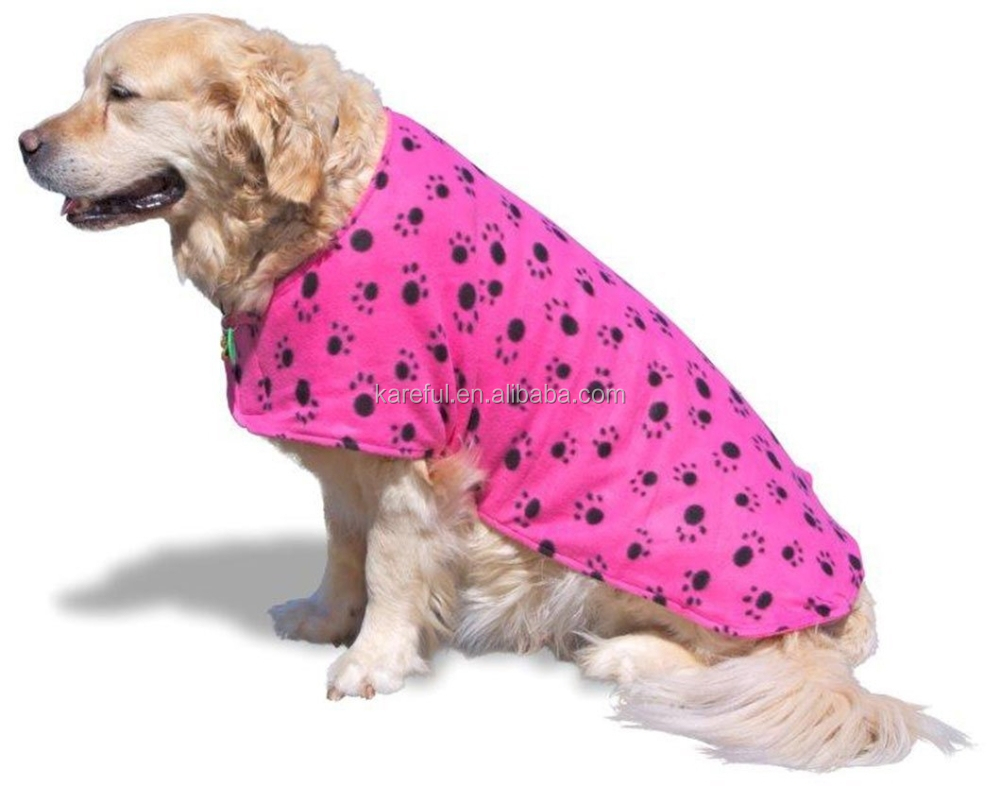 Dog Drying Towel Jacket- Microfiber Towelling Absorbs Water And ...