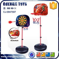 2 in 1 sport toys magnetic dartboard and indoor basketball hoop