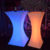 glow furniture 16 color options Led illuminated hourglass hightop