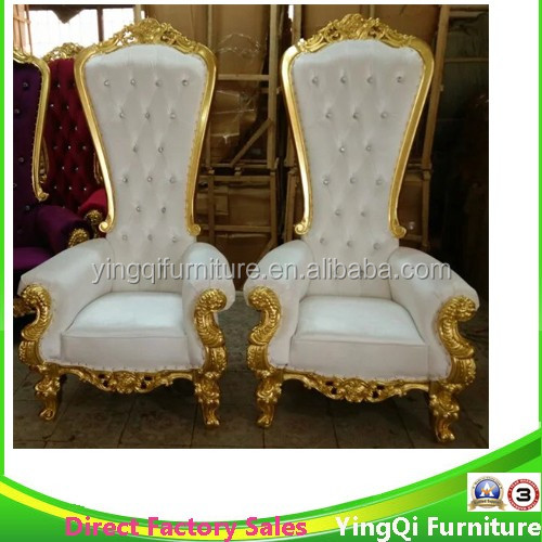 Baroque Wedding Bride and Groom Chairs
