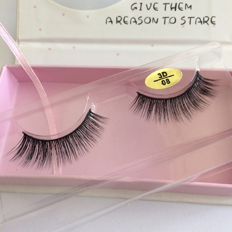 3D Lashes Silk false eyelash Private Label eye lashes private label