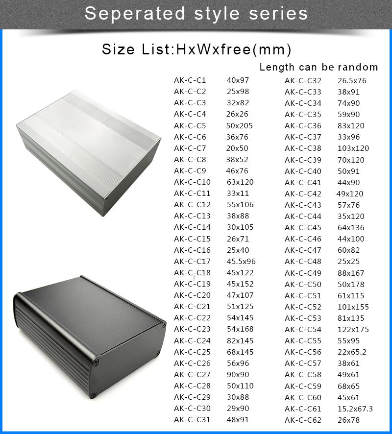 Caso caixa de alumínio gabinete projeto de placas de gerador de ozônio