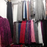 Colorful Genuine Mink Fur Strips for Clothes&Coat&Garment&Dresses