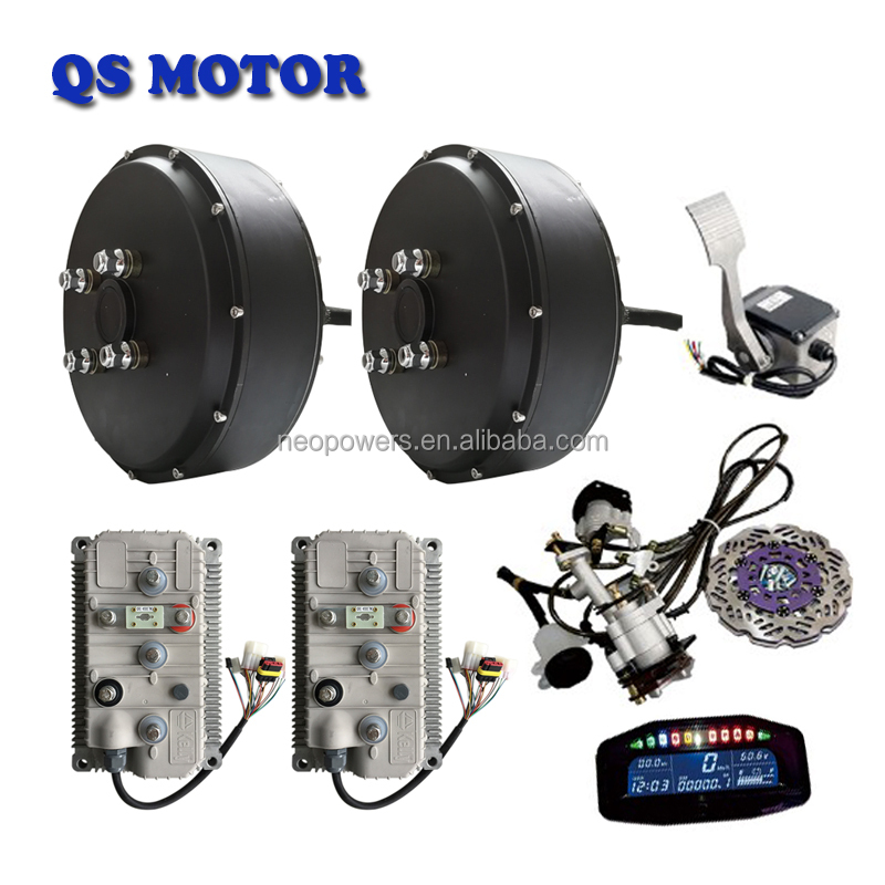 Qs 260 5000w 72v Electric Car Hub Motor Conversion Kit 10kw And Kelly Controller Kls7275h With Regenerative Brake