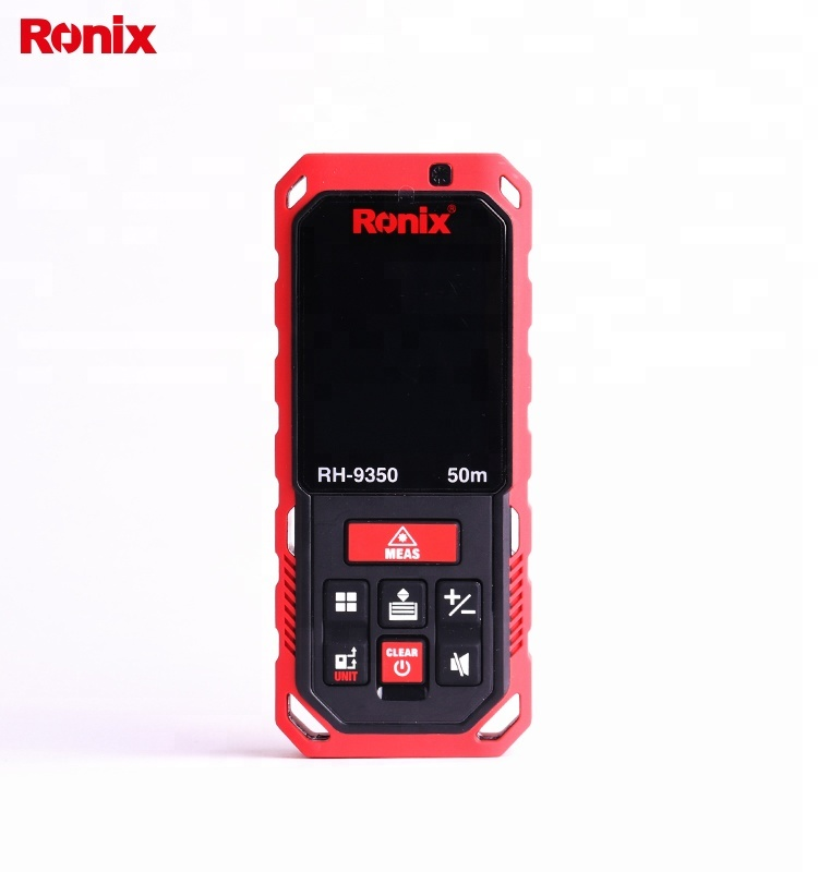Ronix Laser Distance Meter 50m Mini Range Finder Digital Meter Distance Measuring Tool Model 9350