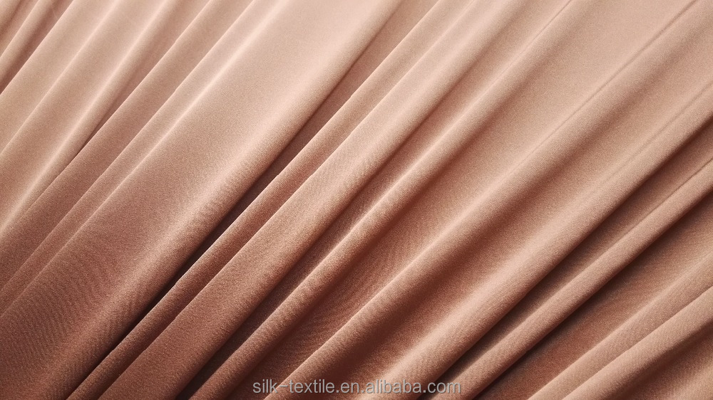 Stretched silk crepe satin charmeuse fabric