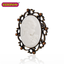 Boosin Custom antique cameo brooch resin brooch