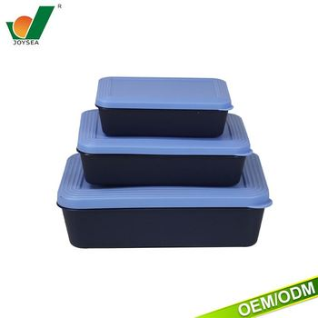 2017 Black Plastic Texture Can Be Customized Logo Food Containers