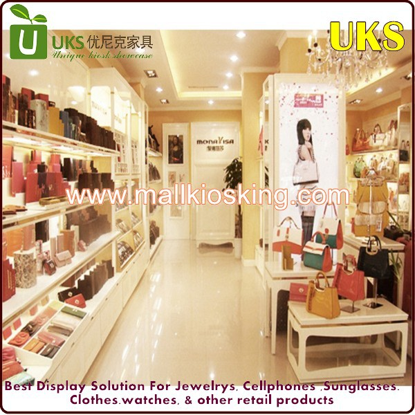 Inside display kiosk for handbag stand display table kiosk to display handbag shelf wallet disply kiosk