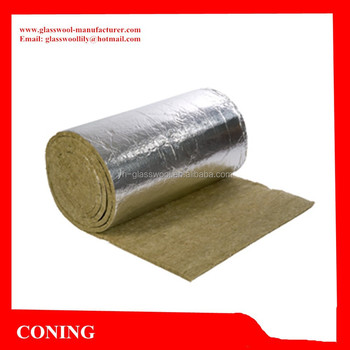 Rock wool insulation roll with aluminum foil facing on one for Rocks all insulation