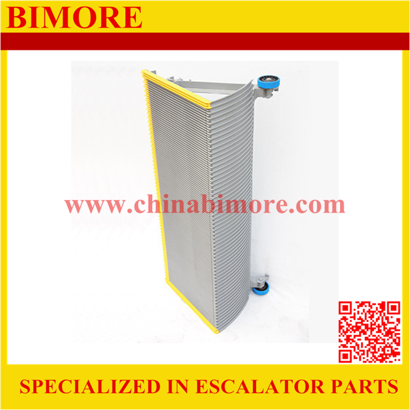 BIMORE XBA455T1 Escalator step with 3 sides yellow plastic demarcations 1000mm