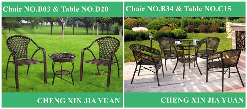 B136+D46 All Weather Outdoor Rattan Furniture Garden Classics Patio  Furniture